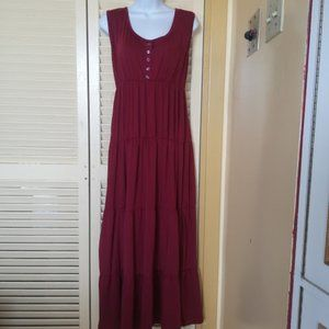 Unbranded Red Maxi Lounging Dress Fits Large XL